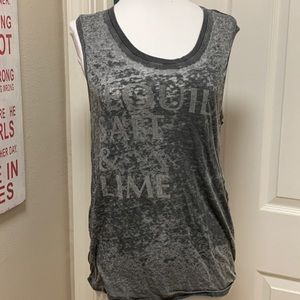 Chaser Brand: Tequila, Salt & Lime Muscle Tank EUC